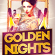Golden Nights Party Flyer Template - GraphicRiver Item for Sale
