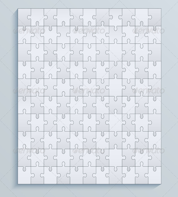 GraphicRiver Parts Puzzles Seamless Pattern Jigsaw 6483400