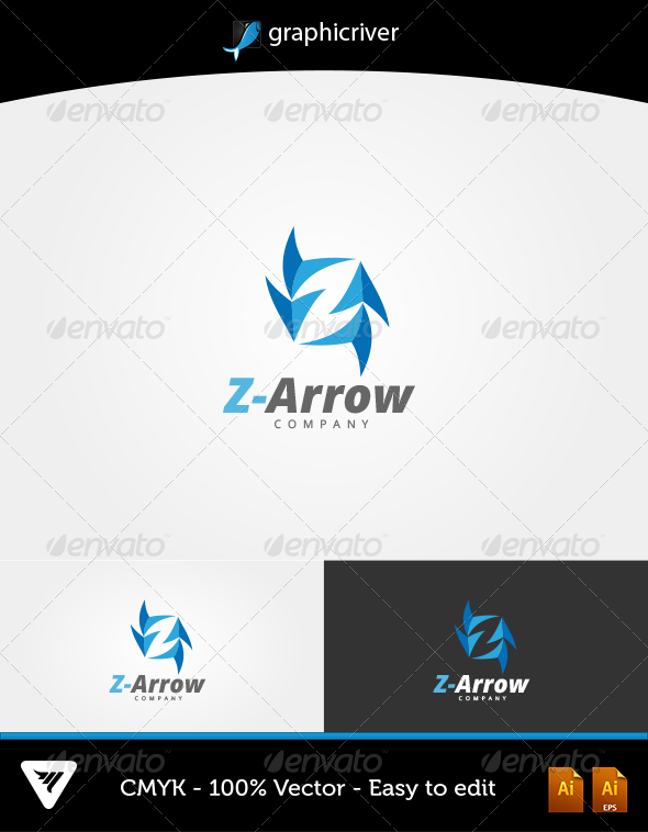 GraphicRiver Z-Arrow Logo 6483654