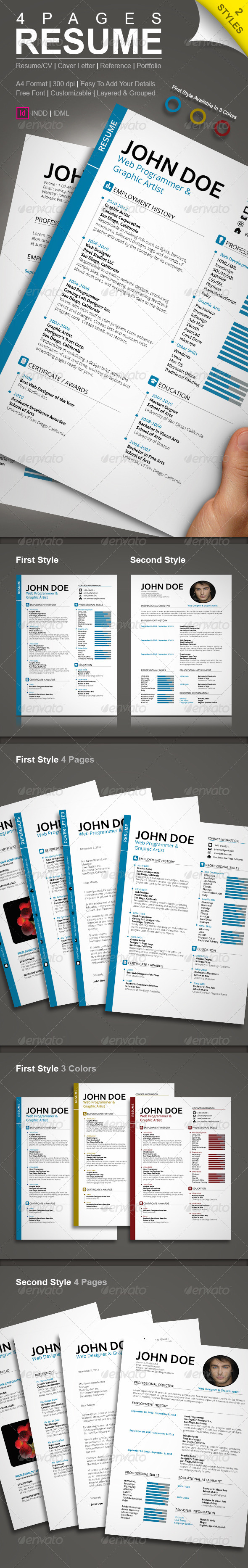 GraphicRiver Resume with Two Styles 6451807