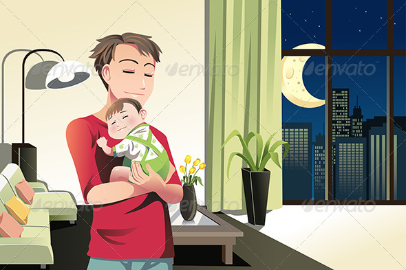 GraphicRiver Father and Son at Home 6484765