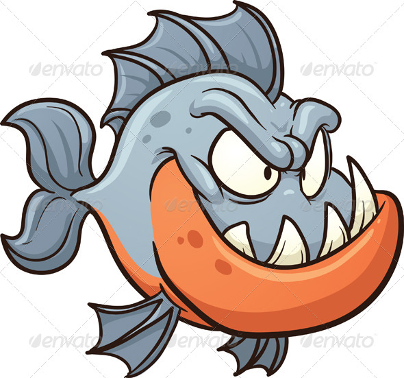 GraphicRiver Cartoon Piranha 6485081