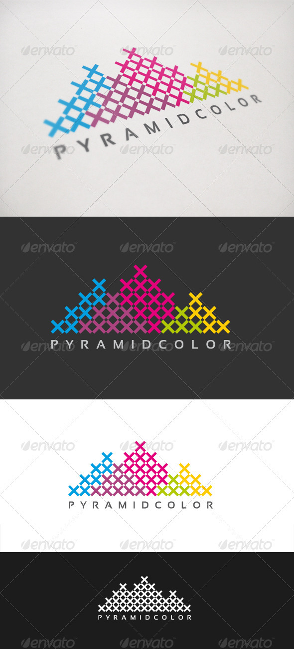 Pyramid Color - Buildings Logo Templates