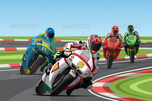 GraphicRiver Motorcycle Racing 6485104