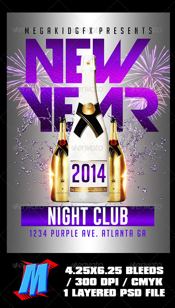 GraphicRiver New Year Flyer Template 6485114