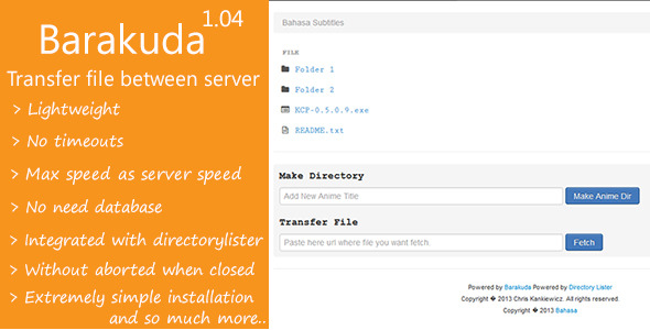 Barakuda - File transfer between server - CodeCanyon Item for Sale