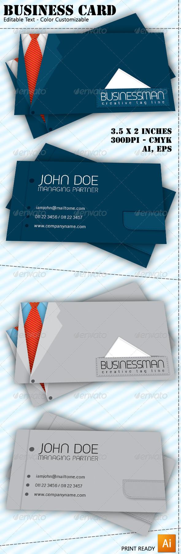 GraphicRiver Businessman Business Card 6445340
