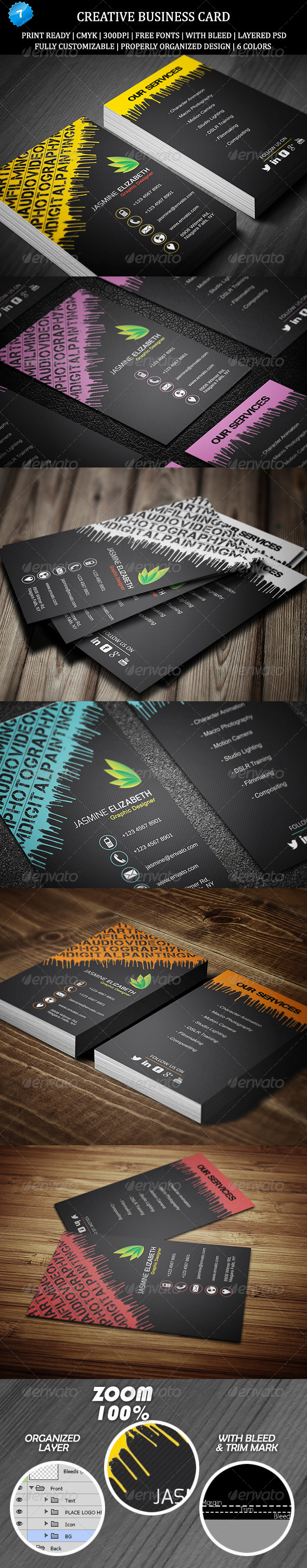 GraphicRiver Creative Business Card 7 6485346