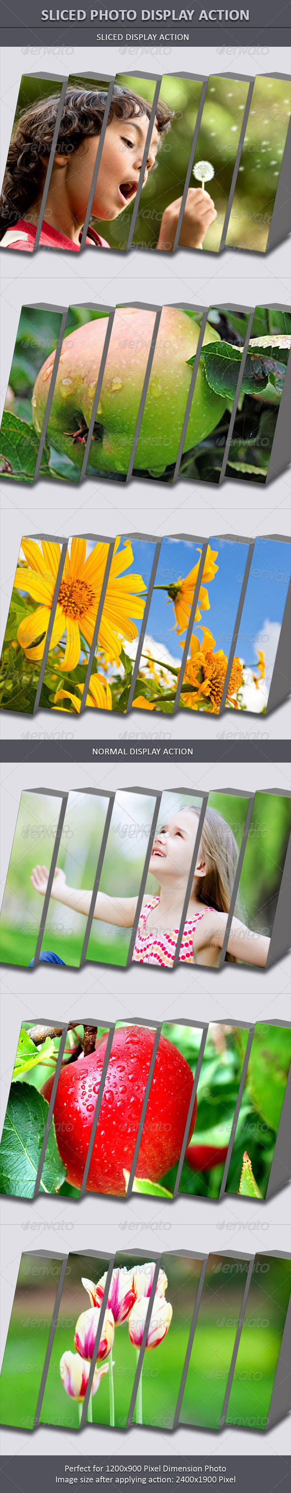 GraphicRiver Sliced Photo Display Action 6485662