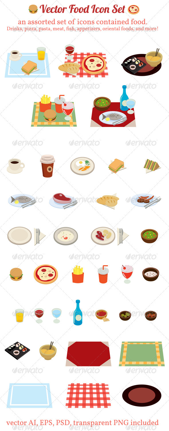 GraphicRiver Vector Food Icon Set 678153