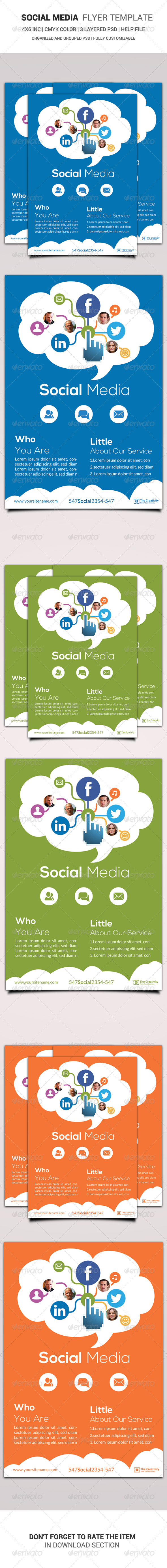 Social Media Flyer Template - Corporate Flyers