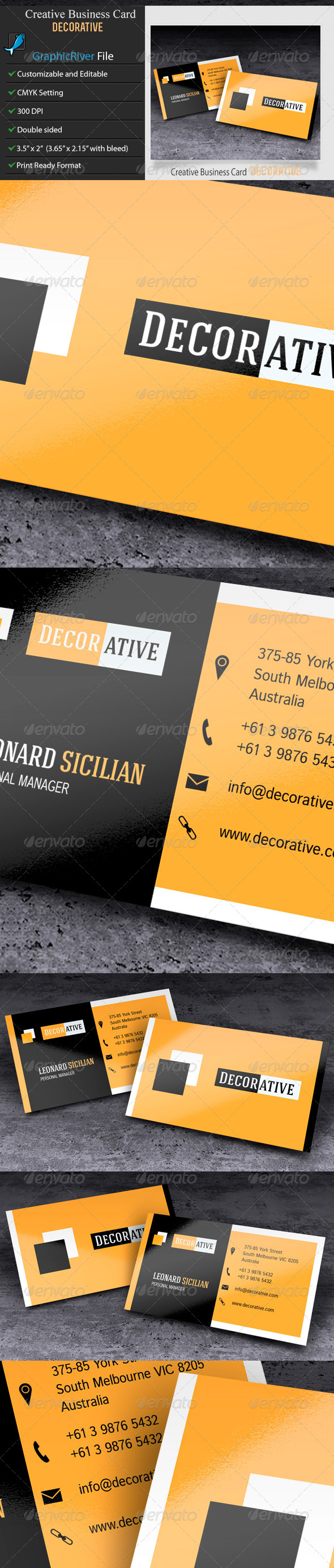 GraphicRiver Creative or Corporate Business Card-Decorative 6487230