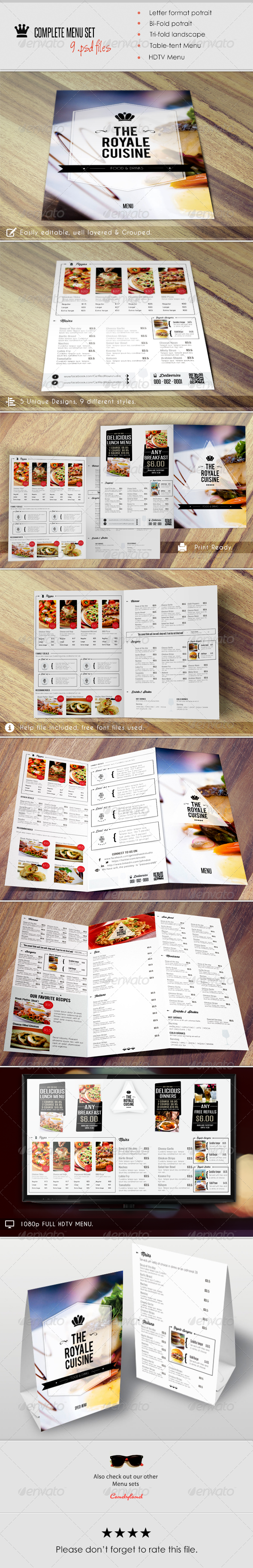 GraphicRiver Menu Pack 2 6487613