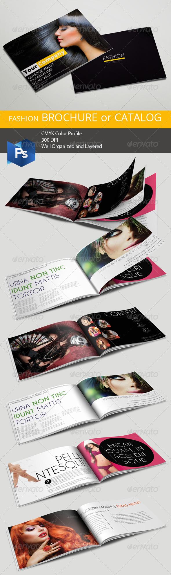 GraphicRiver A5 Fashion Brochure Catalog 6488087
