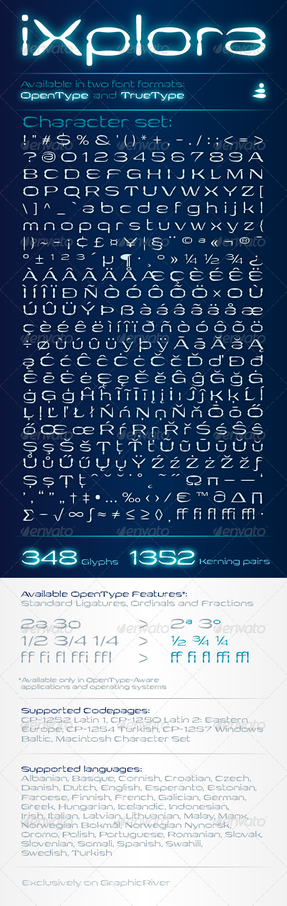 GraphicRiver iXplora typeface 6488720