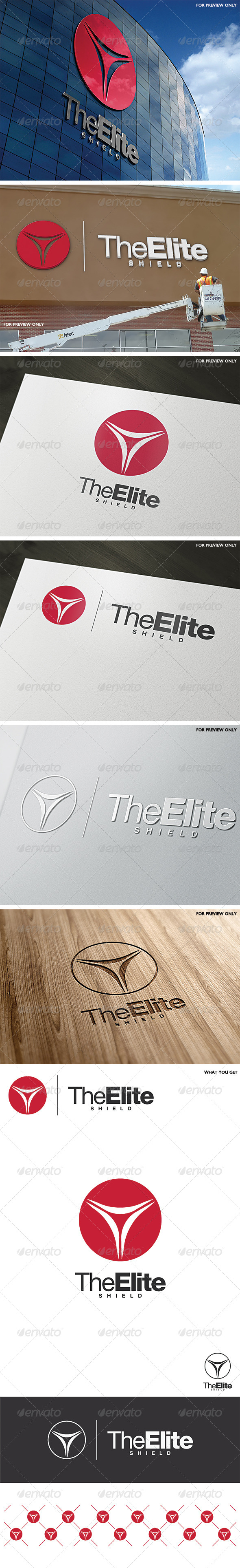 GraphicRiver The Elite Shield Logo Template 6488806