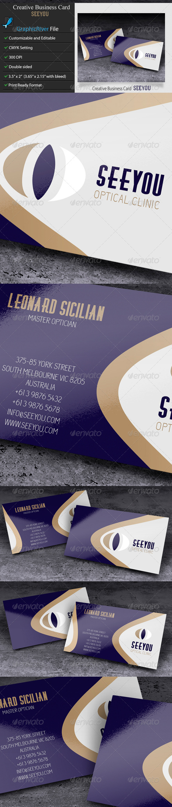 GraphicRiver Creative or Corporate Business Card-Seeyou 6489328