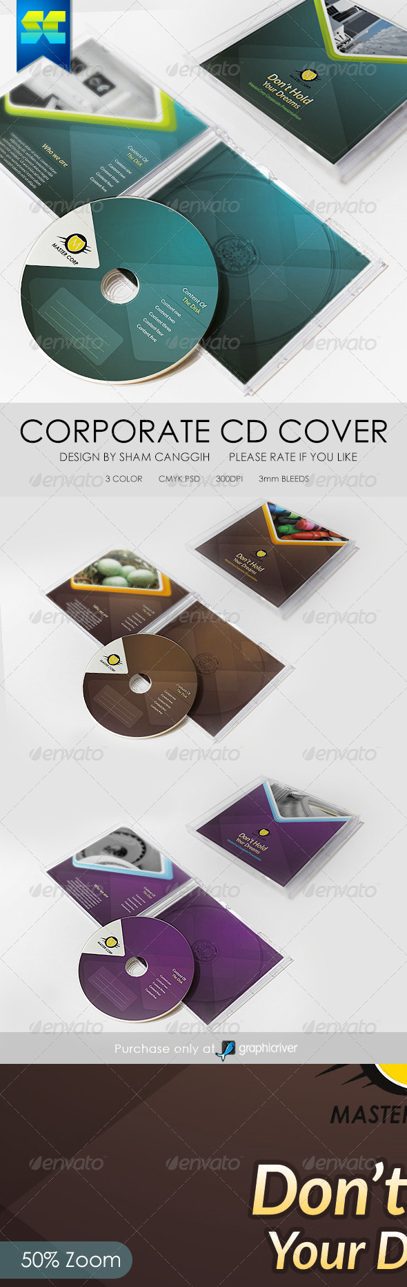GraphicRiver Modern Corporate CD Cover Artwork 6489579