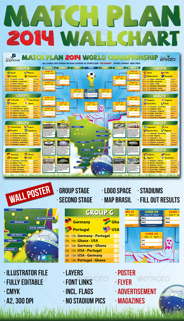 GraphicRiver Matchplan 2014 Wallchart 6466349