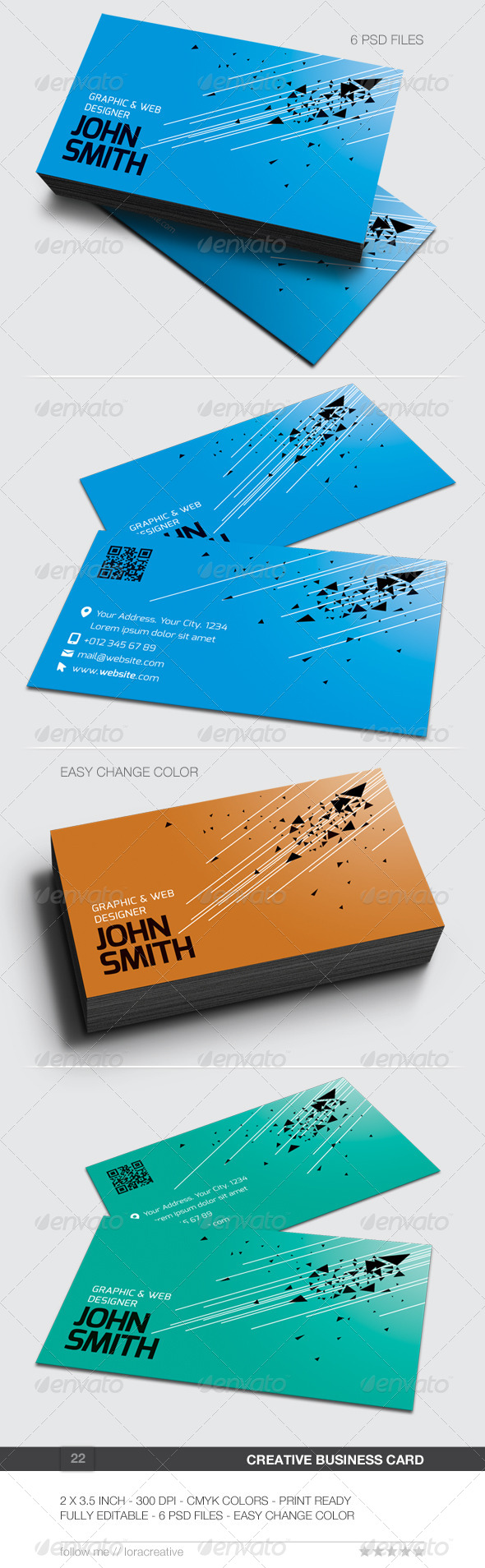 GraphicRiver Creative Business Card 22 6491341