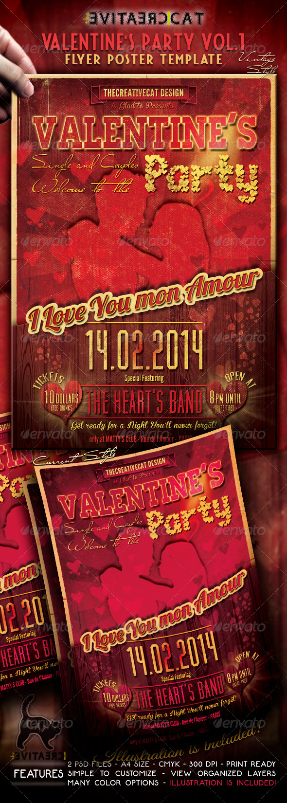 GraphicRiver Valentine s Party Flyer Poster Vol 1 6491694