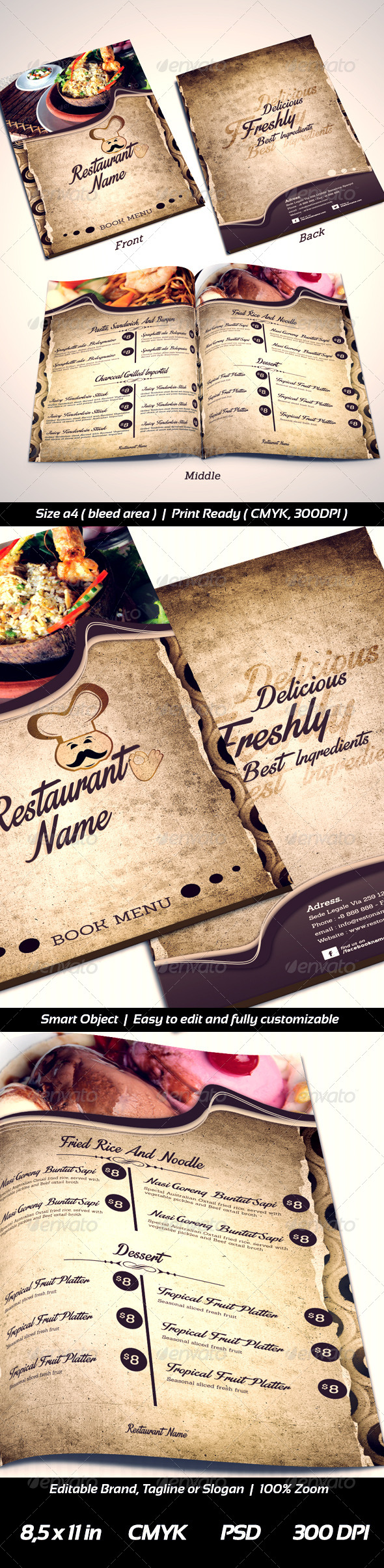 GraphicRiver Restaurant Menu Templates Front-2 Middle-Back 6492753