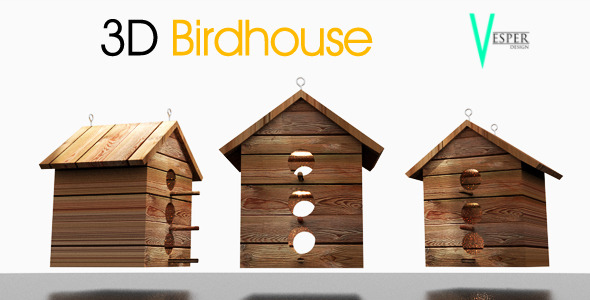 3DOcean 3 floor Bird house 6493170