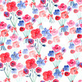 Watercolor Floral Seamless Background - PhotoDune Item for Sale