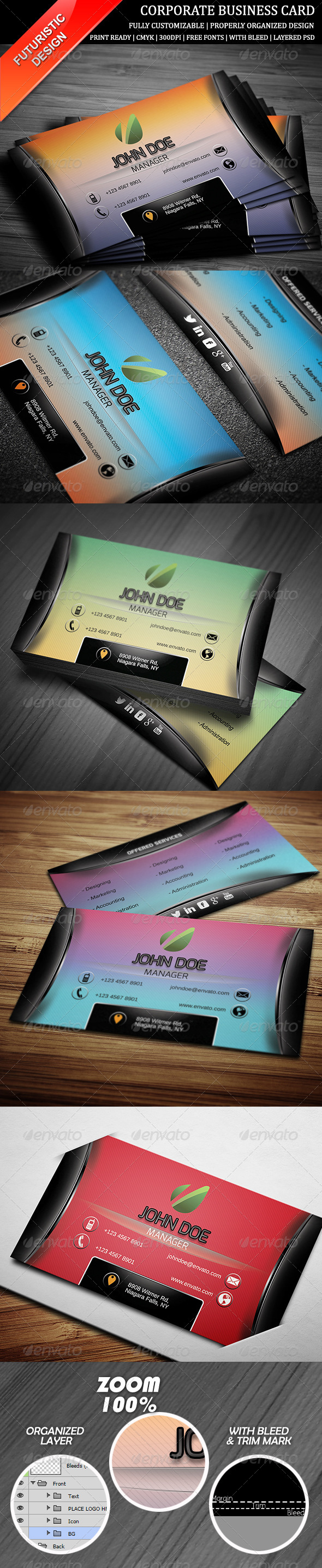 GraphicRiver Corporate Business Card 9 6493948