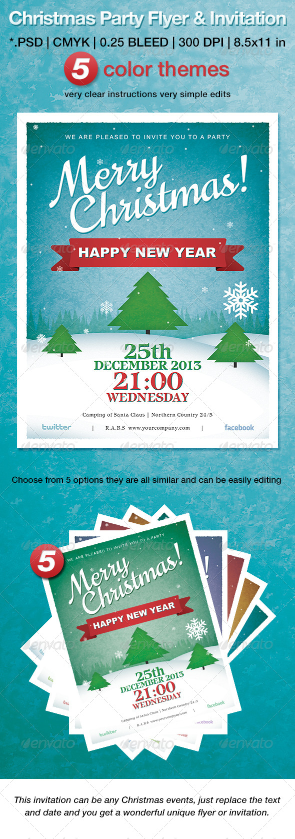 GraphicRiver Christmas Party Flyer & Invitation 6464098