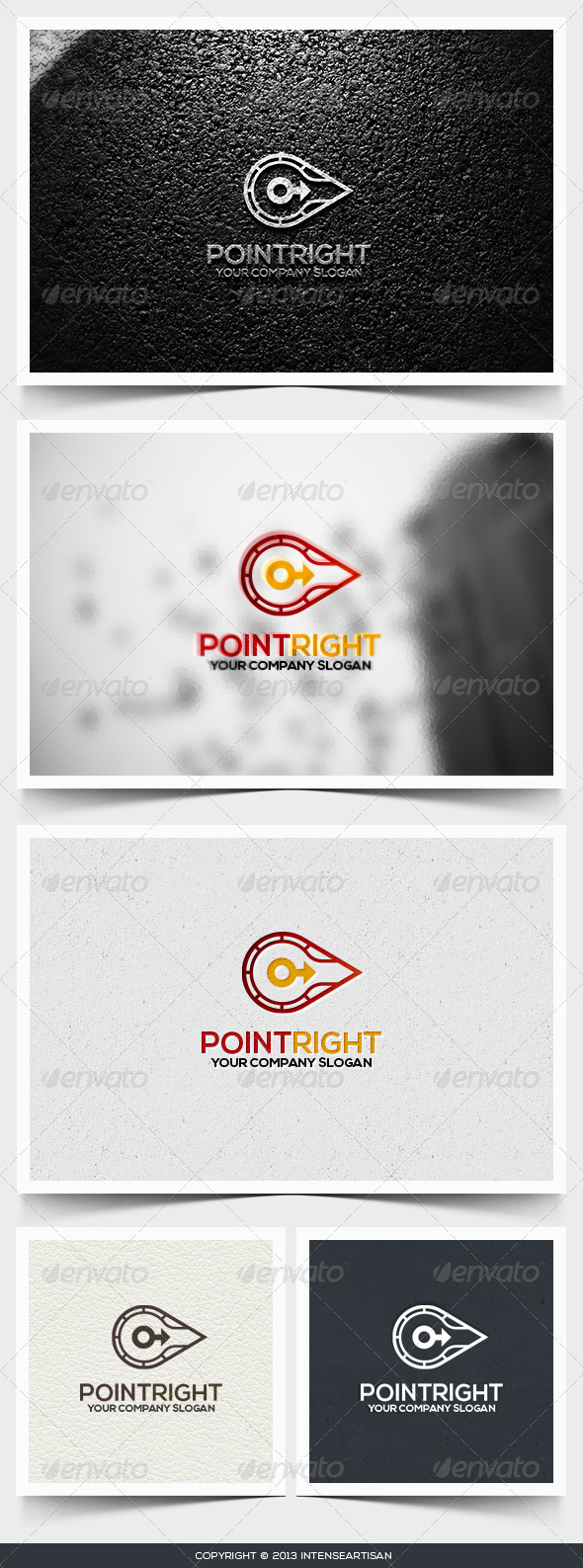 GraphicRiver Point Right Logo Template 6495037