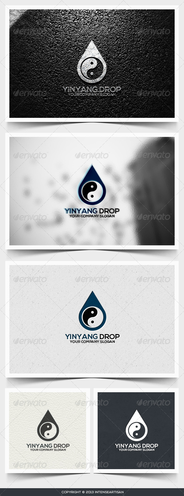 GraphicRiver Yinyang Drop Logo Template 6495083