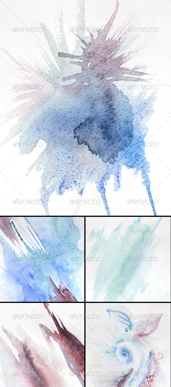 GraphicRiver Natural Hand-Made Watercolor Texture 6495202