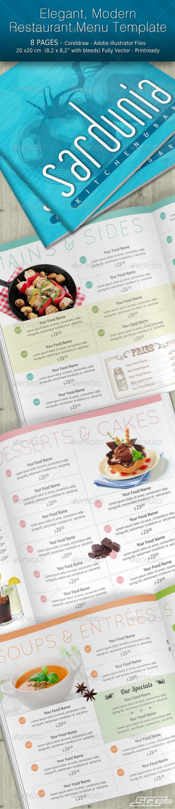 GraphicRiver Modern Elegant Restaurant Menu 6495610