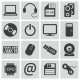 Vector Black Computer Icons Set - GraphicRiver Item for Sale