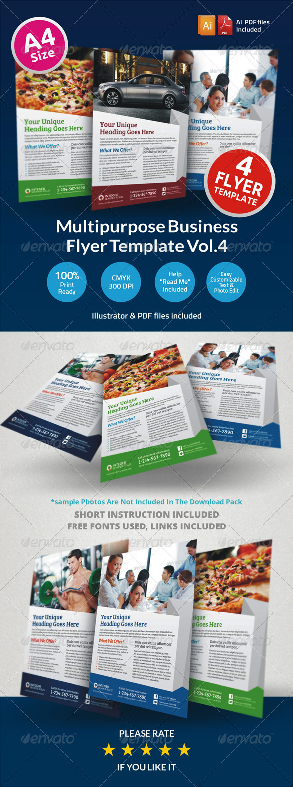 GraphicRiver Multipurpose Business Flyer Vol.4 6497634