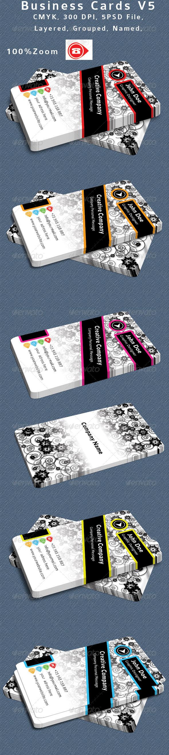 GraphicRiver Textured Business Card V5 6497689
