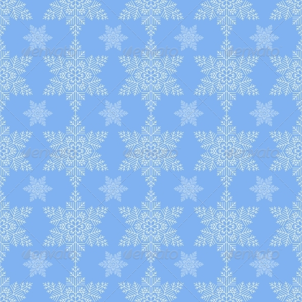 GraphicRiver Blue Snowflake Seamless 6497743