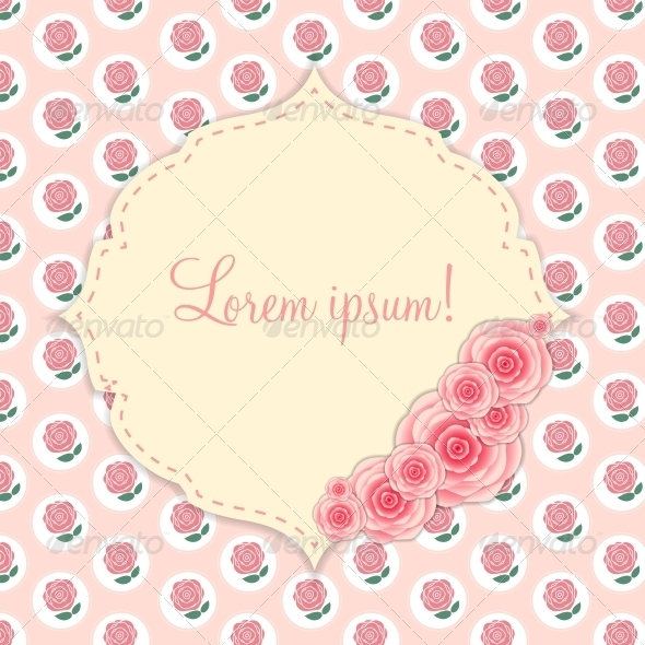 GraphicRiver Frame with Rose Flowers 6497872