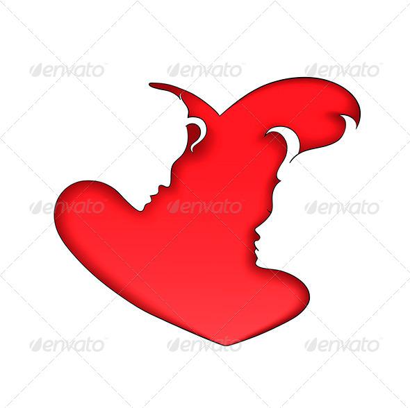 GraphicRiver Silhouettes of Love 6497892