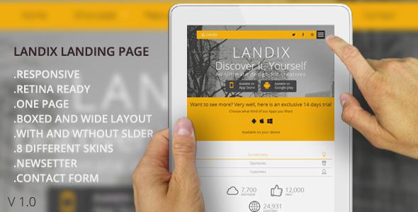 ThemeForest Landix Responsive Retina Ready Landing Page 6485156