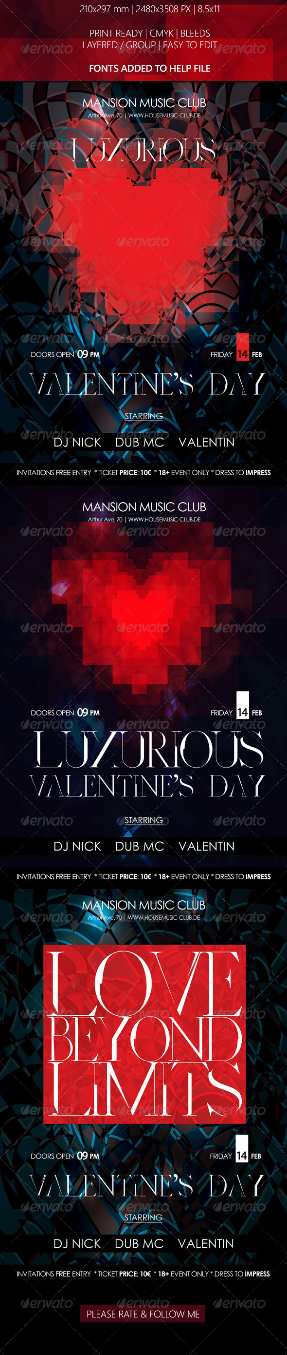 GraphicRiver Valentine s Day Luxurious Poster 6498253
