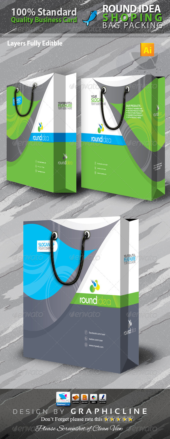 GraphicRiver Round Idea Shoping Bag 6498962