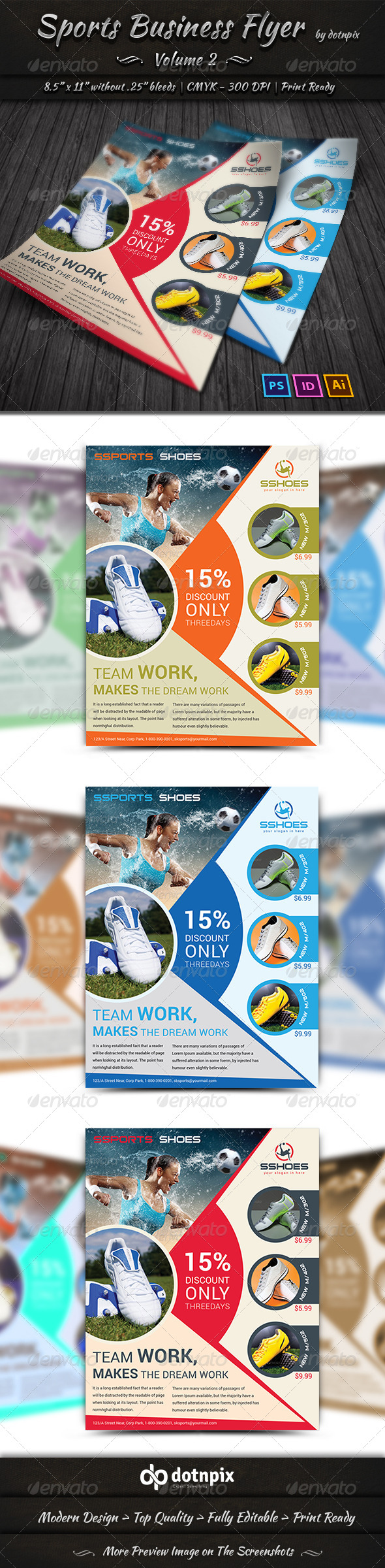 GraphicRiver Sports Business Flyer Volume 2 6499575