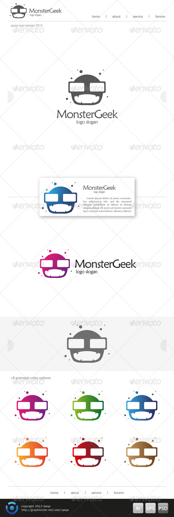 GraphicRiver Monster Geek Logo 6499677