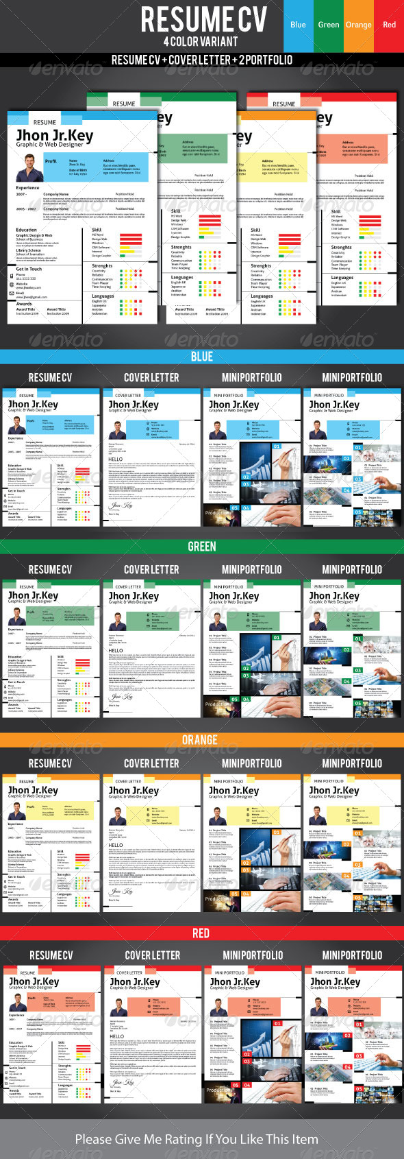 GraphicRiver Resume CV Template 6500004