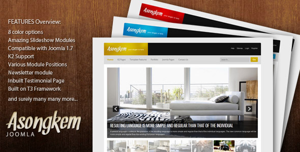 Asongkem - Premium Joomla Template - Business Corporate
