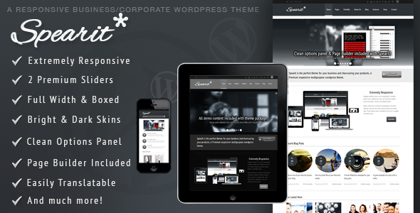 01 preview.  large preview Spearit   Responsive Business Corporate Theme (Business)