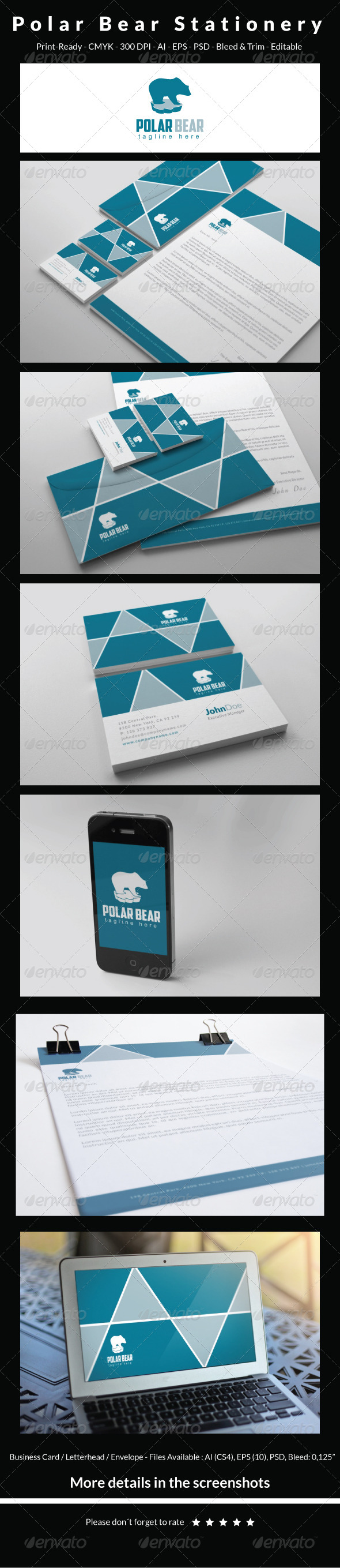 GraphicRiver Polar Bear Stationery 6457744