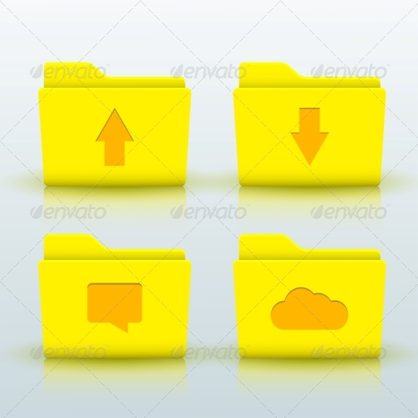 GraphicRiver Folder Icons Set 6500815
